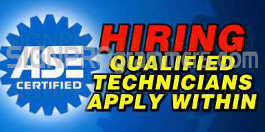 01-013 HIRING QUALIFIED AUTO TECHNICIAN 192X384