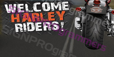 01-071 HARLEY RIDERS WELCOME static