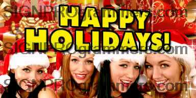 10-12-25-504 HAPPY HOLIDAYS-GIRLS IN SANTA HAT 192x384R