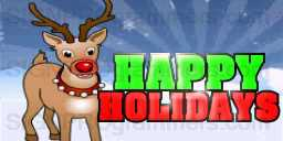 10-12-25-507 HAPPY HOLIDAYS-RUDOLPH 192x384R
