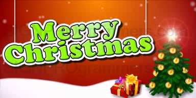 10-12-25-518 MERRY CHRISTMAS-SANTA AND TREE 192x384 RGB