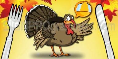 wm 10-11-00-502 HAPPY THANKSGIVING-WAVING TURKEY-FORK N KNIFE 192X384 RGB