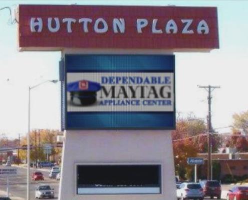 Hutton Plaza digital sign maytag