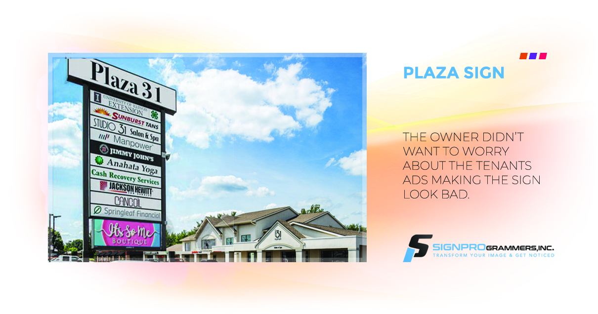 plaza sign new
